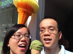 Homemade matcha icecream by Tea's Delight